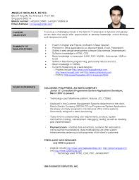 Resume Sample Download For Freshers by Online Resume Formats Splixioo