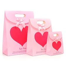 pink gift bags merry christmas paper bags small christmas shopping gift bags