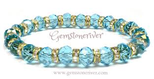 sapphire crystal bracelet images Blue sapphire crystal rhinestone gold bracelet monaco jpg