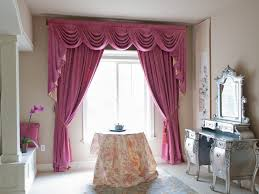 wonderful curtain valance design styling with pink color curtain author