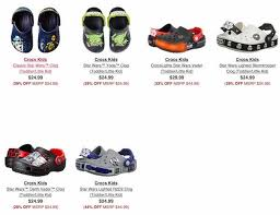 star wars crocs light up check out this deal at 6pm com get these star wars crocs for kids