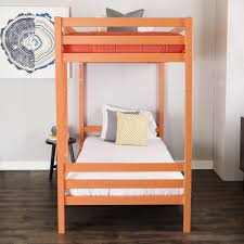 Metal Bunk Beds Twin Over Twin by Bentley Twin Over Twin Metal Bunk Bed Coral By Walker Edison