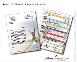 sample total compensation and employee benefit statements