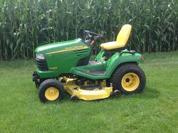 2003 john deere x485 54 riding lawn mower w 54 hyd snow blade
