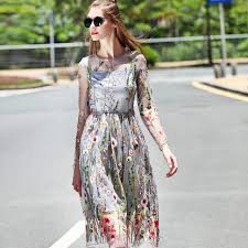 summer dresses casual summer dresses women 2017 floral embroidery see through