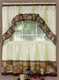 Kitchen Curtains Valance by Coffee Curtains Tier Pair U0026 Swag Set Complete Kitchen Sets