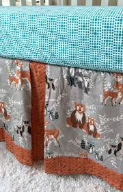 Toddler Bedding For Convertible Cribs by Toddler Bedding Forest Animals Arrows Deer And Teal Oh