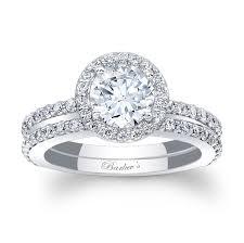 barkev s white gold halo bridal set 7895s barkev s