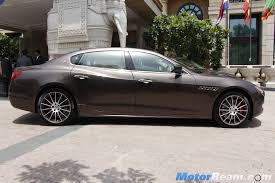maserati india maserati quattroporte side motorbeam indian car bike news