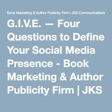 the four questions book g i v e four questions to define your social media presence