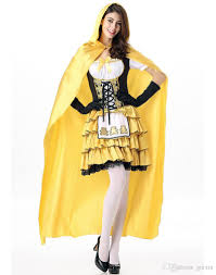 supergirl halloween costumes 2016 helloween princess costumes for women yellow cloak mid