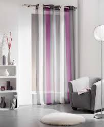 Purple Design Curtains Striped Sheer Curtain Panel Riviera Grommet Purple