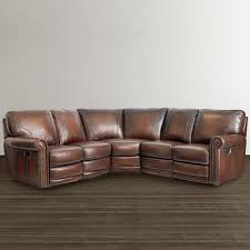 Brown Leather Sectional Sofas by Brown Leather Motion Sectional Bassett Home Furnishings