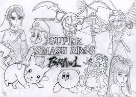 super mario bros coloring pages smash bros coloring pages