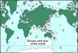 the sea map oceanography oceans