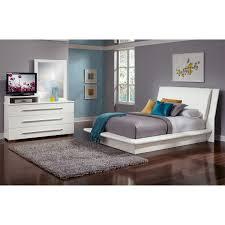 dimora 5 piece queen upholstered bedroom set with media dresser