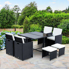 outdoor wicker dining table outdoor wicker dining furniture ebay