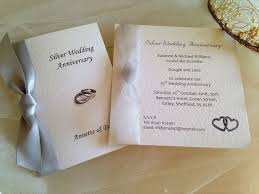Silver Wedding Invitations Wedding Anniversary Invitations 60p