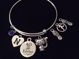 birthday charm bracelet custom 40 and fabulous happy 40th birthday expandable charm