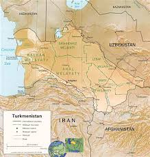 Map Of Middle East With Capitals by Turkmenistan Map Capital Ashgabat