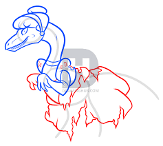 how to draw raptor cinderella step by step drawing guide by
