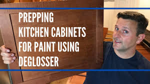 painting kitchen cabinets using deglosser prepping kitchen cabinets for painting using deglosser