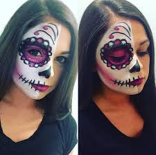 beautiful colorful sugar skull makeup ideas