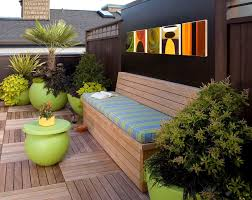 seattle modern storage bench patio with coffee table outdoor