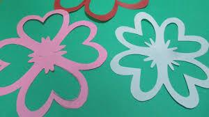 how to make simple u0026 easy paper cutting flower designs diy