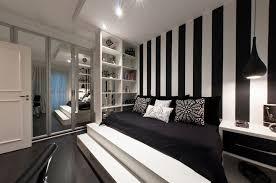 dark brown color wooden bed frames black and red bedroom bright