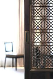 Screens Room Dividers by Vintage Screen Room Divider Sliding Door Detail With Infill Panels