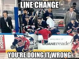 Nhl Meme - nhl line change fail meme