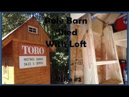 pole barn shed with loft interior walk through youtube