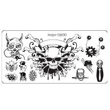halloween stamp online get cheap skull plates aliexpress com alibaba group