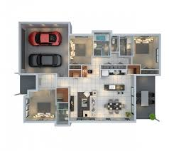 Floor Plans For Small Houses With 3 Bedrooms 3 Bedroom With Parking Space Floor Plan Decoraciones Pinterest