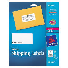 2 X 4 Label Template 10 Per Sheet Avery 100ct White Shipping Label Target