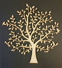 wooden tree family tree shape mdf blank crafting weddings
