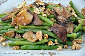 ina thanksgiving my carolina kitchen green beans and oyster mushrooms tossed in a
