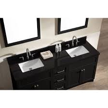 Bathroom Double Sink Cabinets by Ace 73 Inch Transitional Double Sink Bathroom Vanity Set Black