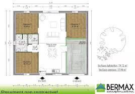 plan de maison plain pied 3 chambres plan de maison moderne gratuit a telecharger