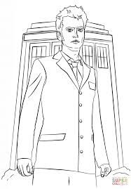 tenth doctor coloring page free printable coloring pages