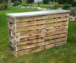 How To Build A Wood Patio by Pallet Patio Bar With Concrete Top 6 Steps With Pictures