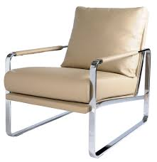 Accent Chair Accent Chair Chrome Steel Frame Naturel