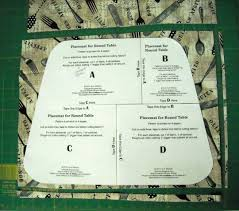Placemats For Round Table Sid U0027s In Stitches Easy Placemats For A Round Table Free Pattern