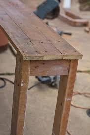 Driftwood Sofa Table by Best 25 Narrow Sofa Table Ideas That You Will Like On Pinterest