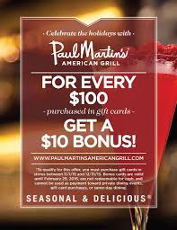 purchase gift card gift cards paul martin s american grill