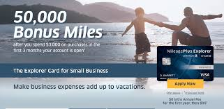 Chase Secured Business Credit Card Chase United Mileageplus Explorer Business Card 50 000 Mile Sign