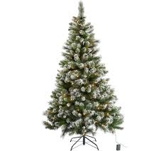 buy pre lit snow tipped tree with 180 lights 6ft at