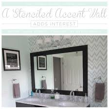 bathroom stencil ideas a stenciled accent wall adds interest stencil stories stencil