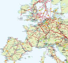 Labeled Map Of Europe by Europe Pipelines Map Crude Oil Petroleum Pipelines Natural